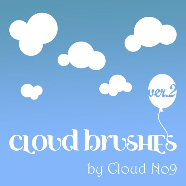 Free Cloud Brushes ver.2