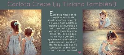 CARLOTA CRECE (y Tiziana también!)