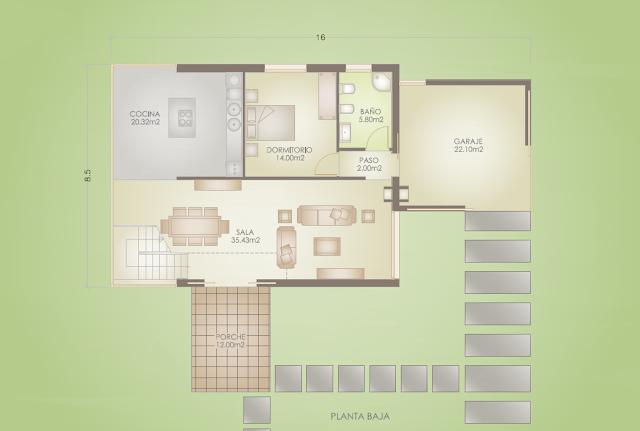 Planos casa en Sanxenxo