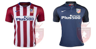 Jersey Atletico Madrid Home, Away 2015-2016