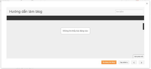Sử dụng các giao diện có sẵn của Blog