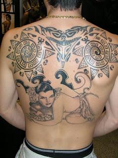 Back Tattoo Design for Men