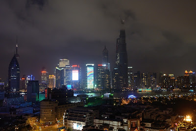 Shanghai Tower as seen from the lounge at the Yu Garden Renaissance Hotel in Shanghai