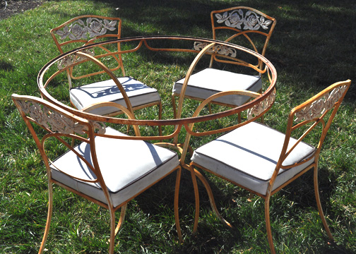 kerstie pederson: Vintage Patio Furniture Makeover