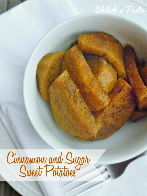 Cinnamon & Sugar Sweet Potatoes | Shiloh's Taste #easy #sweetpotatoes #autumn