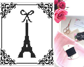 New Cross Stitch Pattern ~ Eiffel Tower