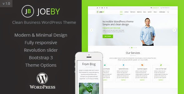 Download JoeBy Clean Business WordPress Theme