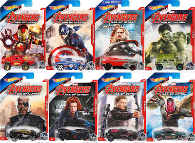Marvel's Avengers Age of Ultron Hot Wheels Cars Series - Iron Man Hulkbuster, Captain America, Thor, Hulk, Nick Fury, Black Widow, Hawkeye & Vision