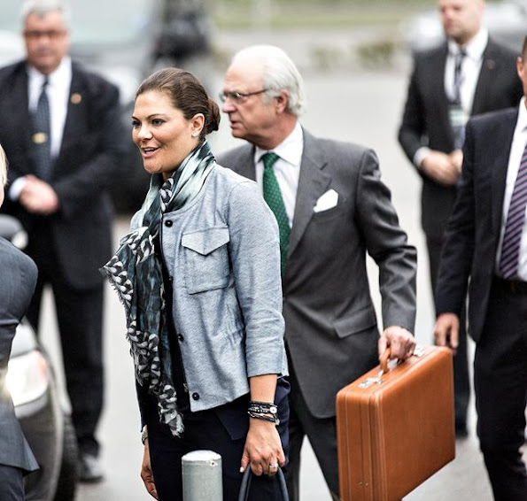 King Carl Gustaf of Sweden and his daughter Crown Princess Victoria of Sweden visited the Swedish Migration Agency in Malmö
