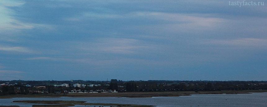 вид на Швецию с Эресуннского моста