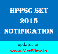 HP SET 2015 Notification
