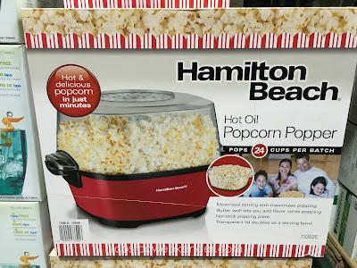 Make movie theater popcorn at home with the Hamilton Beach Hot Oil Popcorn Popper 73302E
