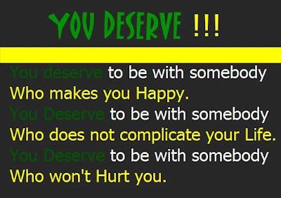 You deserve!!!