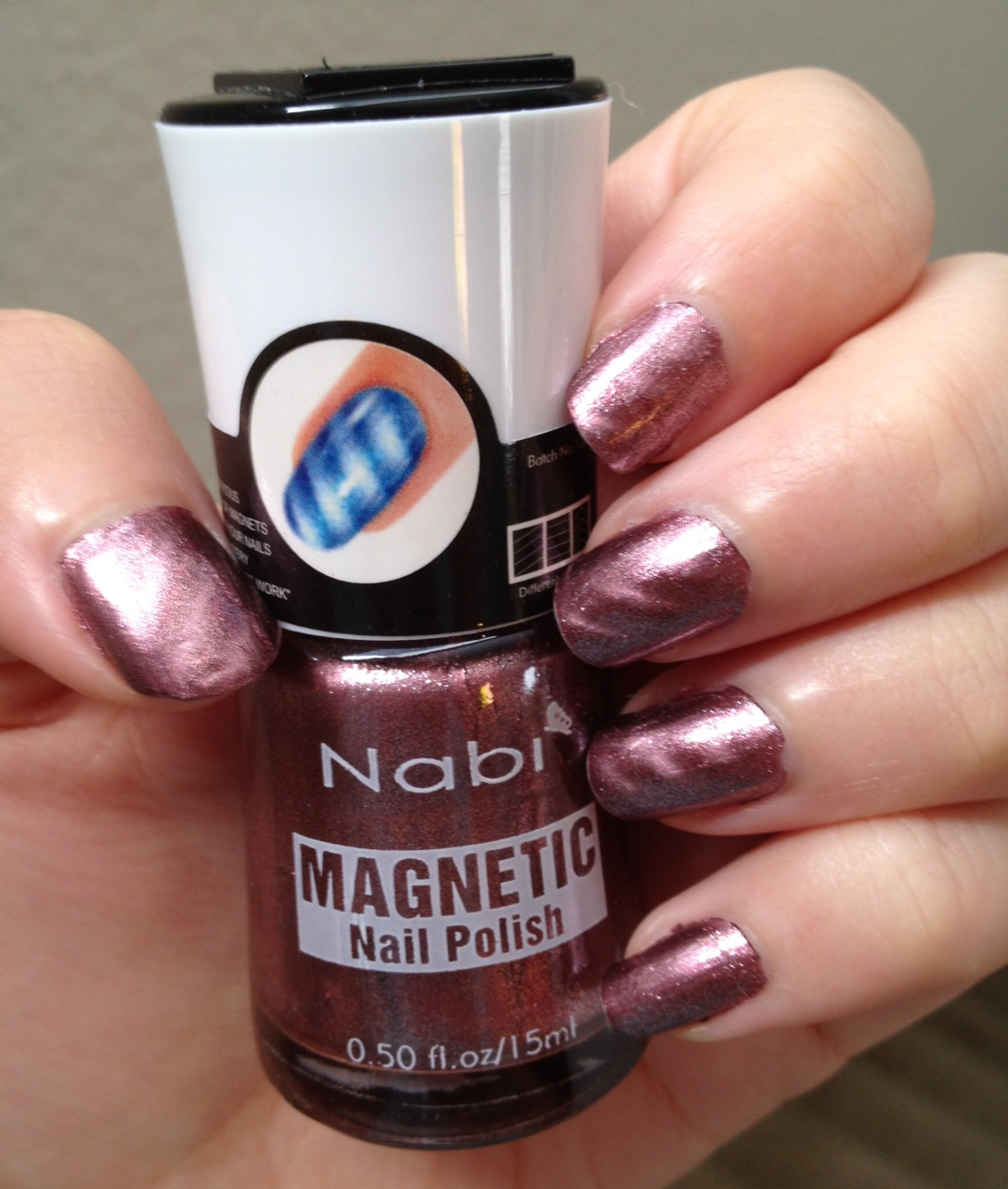 Beauty Misanthropic: Nabi Magnetic Nail Polish 04 Cinnamon