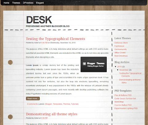 Desk Blogger Theme