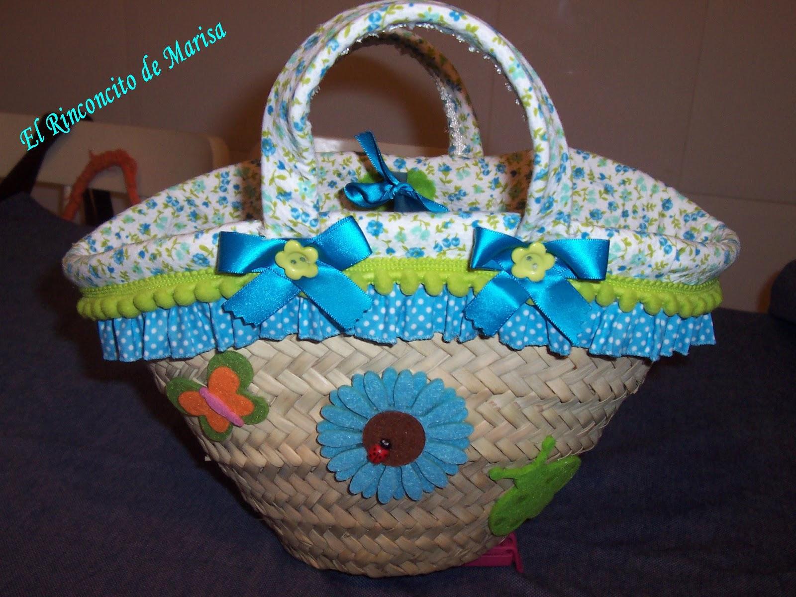 El rinconcito de marisa cesta decorada para alejandra - Capazos de mimbre decorados ...