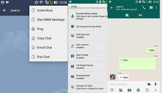MOD BBM Line dan Whatsapp