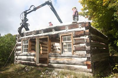 Settlers' log cabin