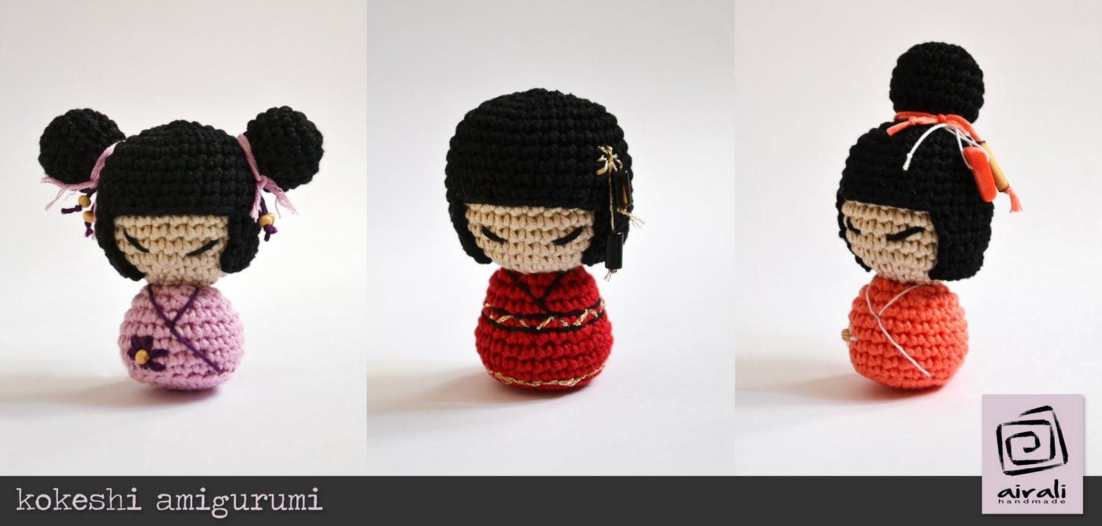 Kokeshi En Amigurumi : Airali design. Where is the Wonderland? Crochet, knit and ...