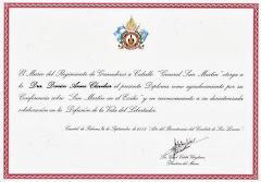 Reconnaissance de mon travail par le Musée du Régiment des Grenadiers