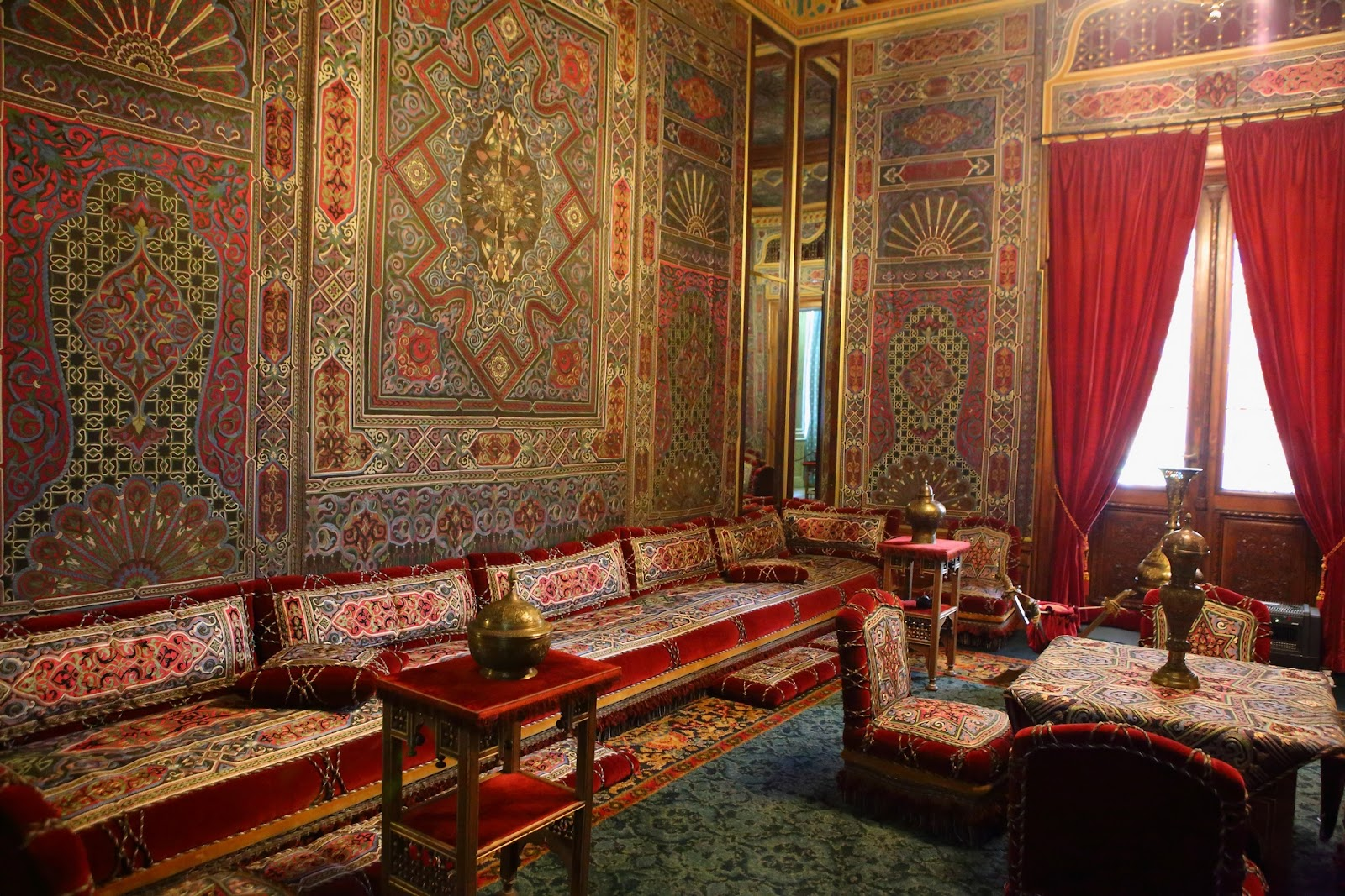 Elegant Castelul Peleș   Interior Room With Turkish Decor.