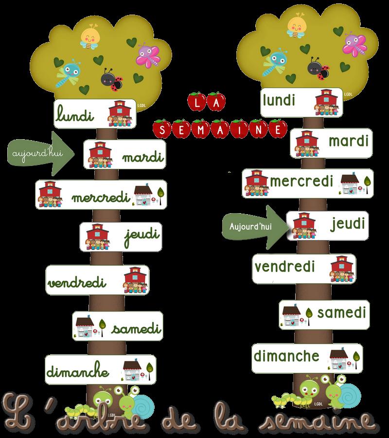 Populaire La maternelle de Laurène: L'arbre de la semaine BC38