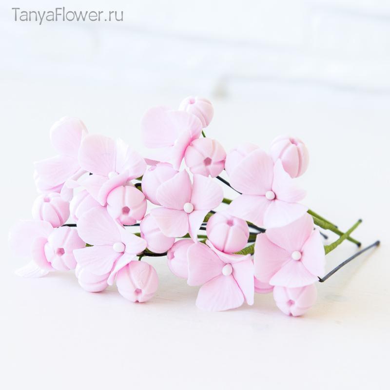розовые цветочные шпильки для волос