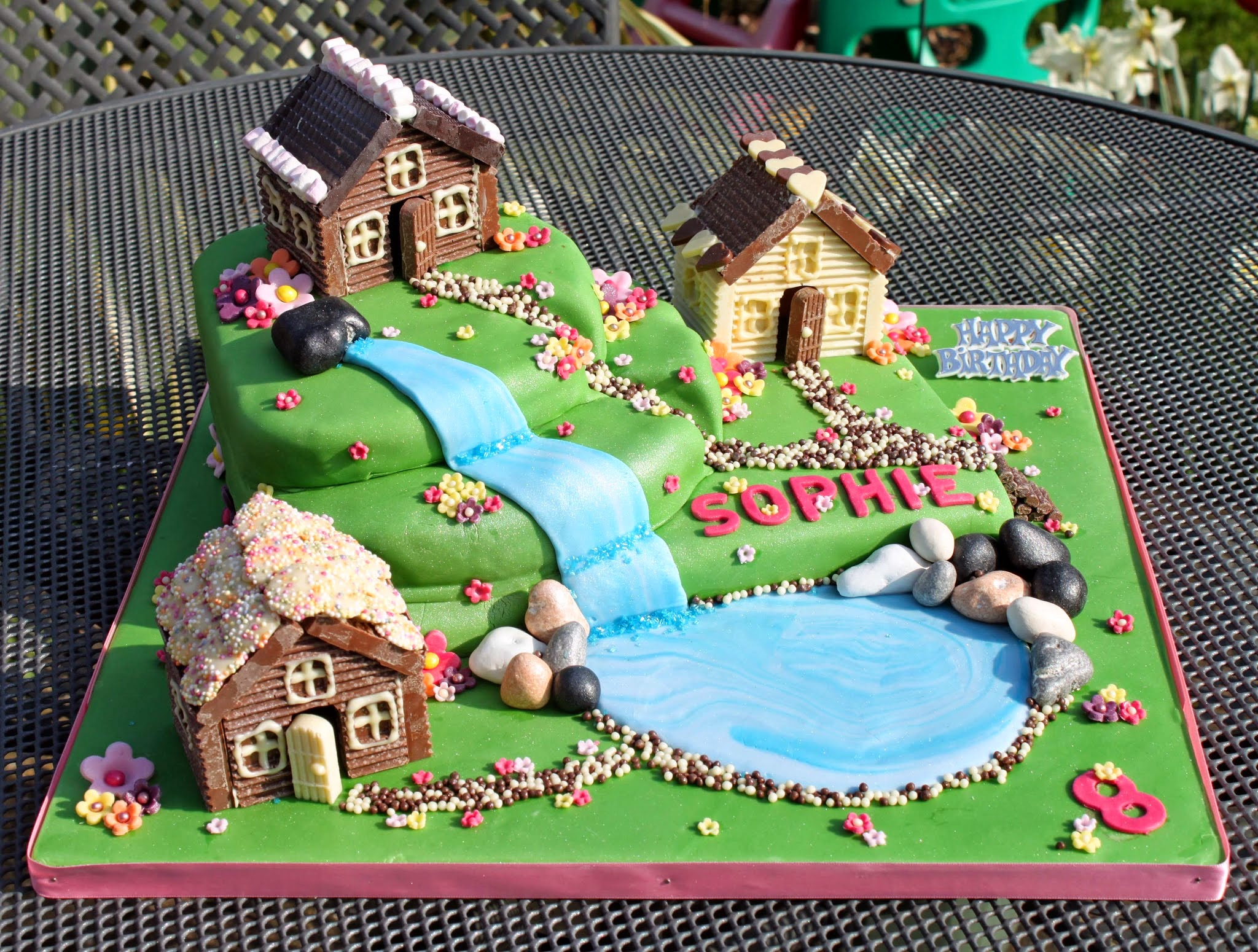 cake, alpine village, chocolate, chocolate house