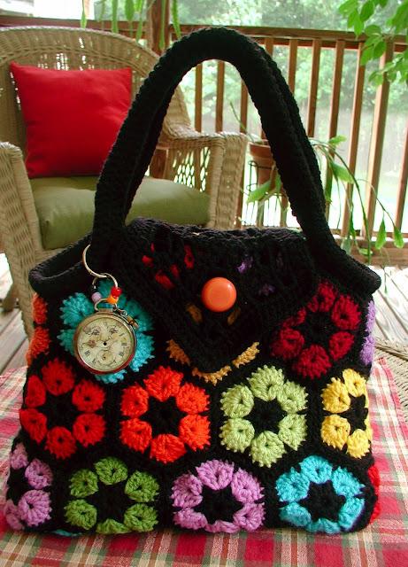 Вязание сумок из мотивов 177
