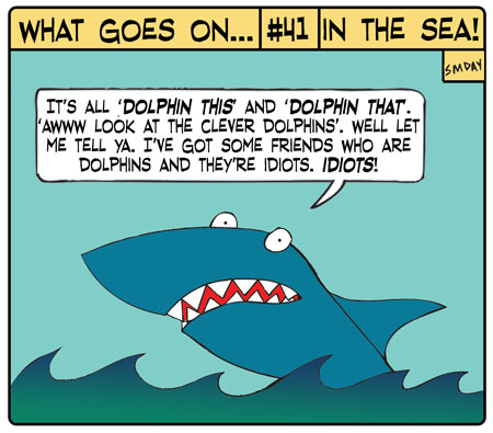 comic pictures of sharks