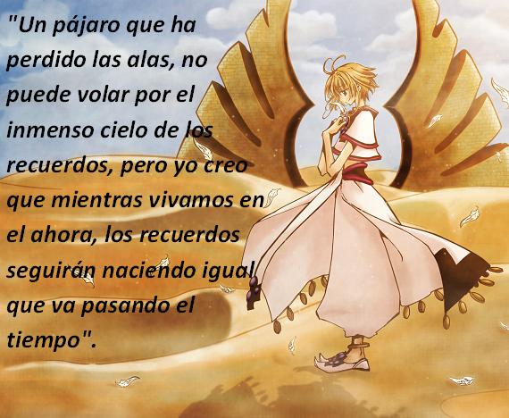 Frases con fotos del anime. Sakura1