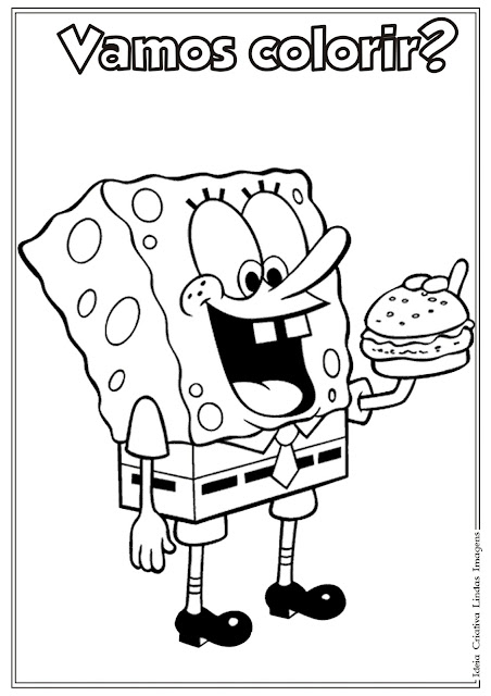 Desenho do Bob Esponja para colorir
