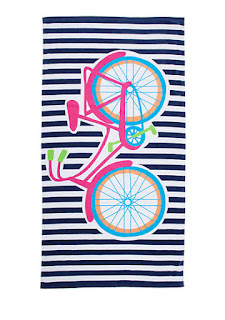 Home Accents Blue Bicycle Beach Towel