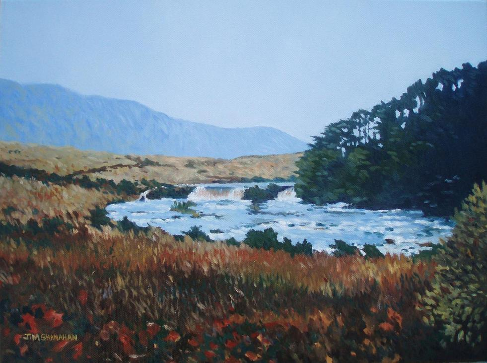 Ashleagh Waterfall , Connemara -- For Sale Framed Euro 200