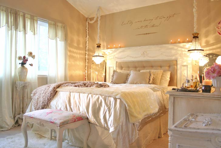 Ophelia 39 s adornments blog pretty in pink bedroom makeover for Romantic master bedroom designs