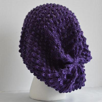Open weave slouchy hat, slouchy beanie, dreadlock hat, Jeannie Gray Knits