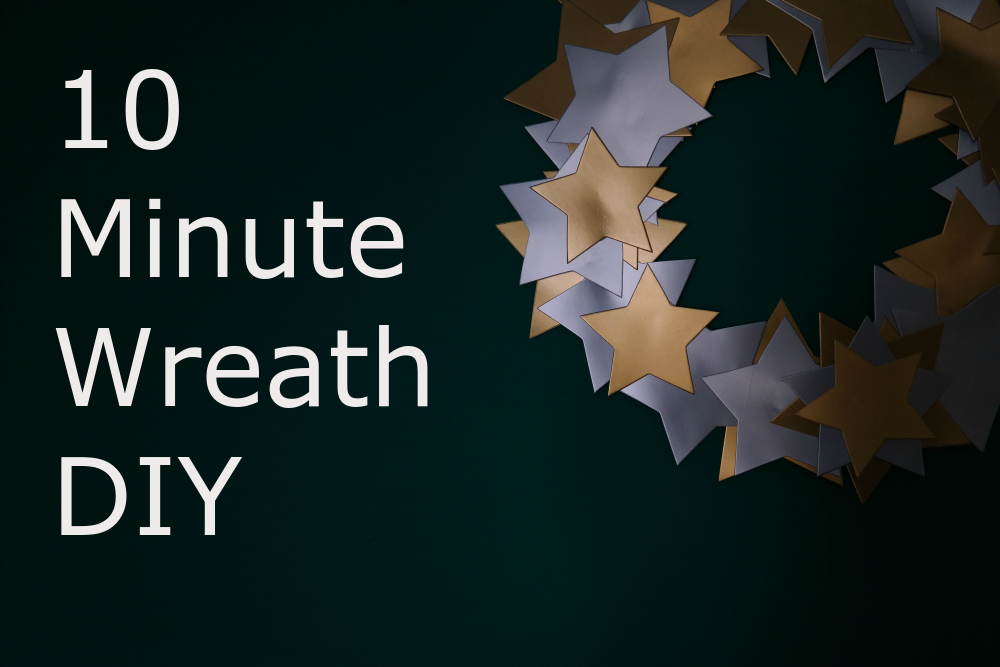 10 Minute Starry Christmas Wreath DIY