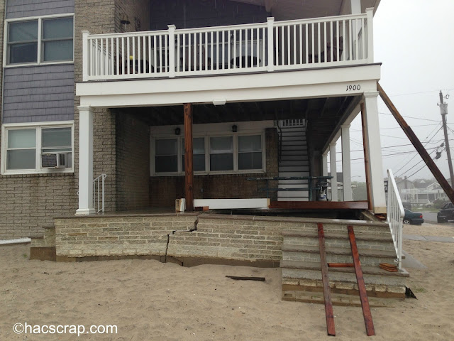 Broken Homes After Hurricane Sandy hit New Jersey