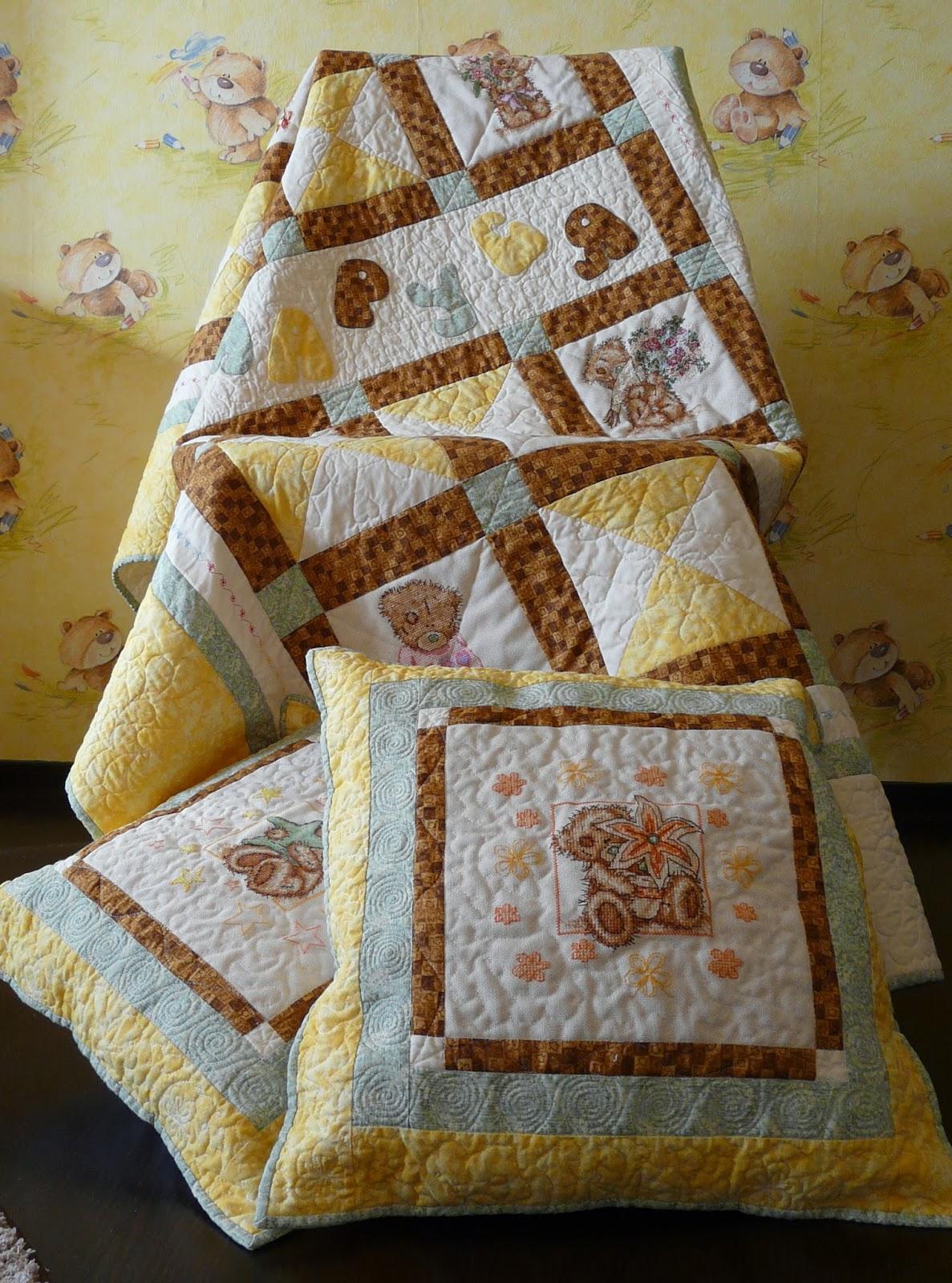 Вышивка для детского одеяла