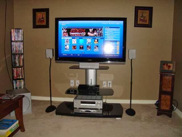 a great home entertainment setup ayanahouse. Black Bedroom Furniture Sets. Home Design Ideas
