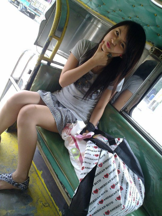 sexy filipina in the jeepney