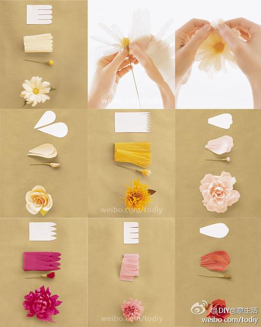Бумажные цветы своими руками из бумаги мастер класс