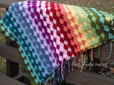 Easy Crochet Pattern Crochet Shell Afghan Pattern