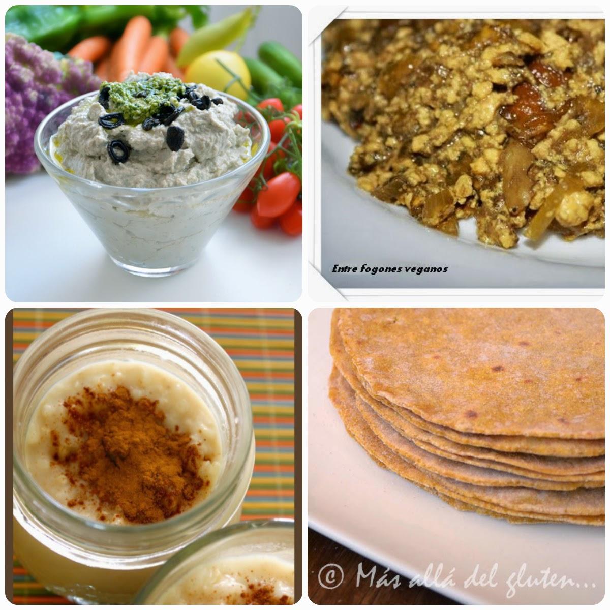 Recetas del décimo séptimo Menú vegetariano con recetas de otros blogs.