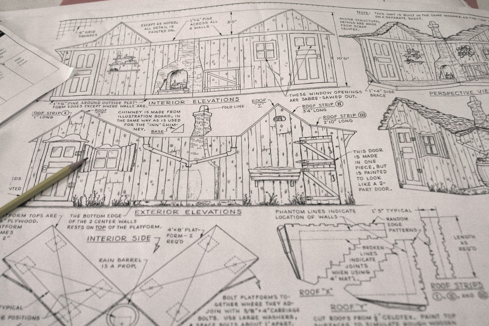 Slidell little theatre set design building the set for fiddler a kit designed specifically for fiddler on the roof contained a series of blueprints for the entire set malvernweather Images