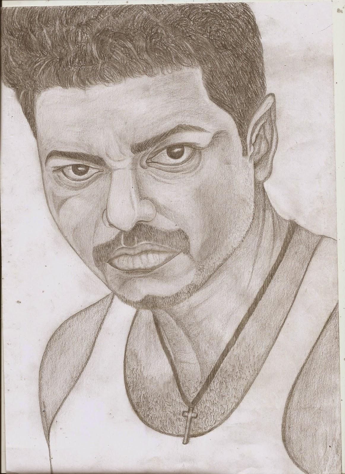 Jackhi pencil drawing vijay pencil sketch