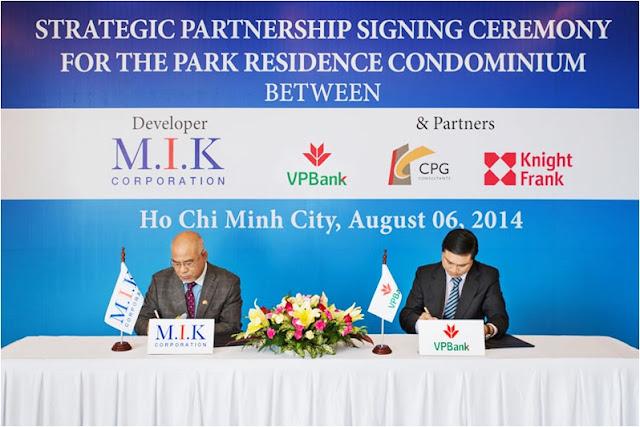 Các dự án của M.I.K Corporation được ngân hàng VPBank cam kết bảo trợ