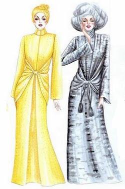 Model terbaru Gamis Pesta elegan modern