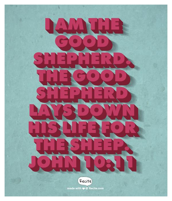 Jesus says: