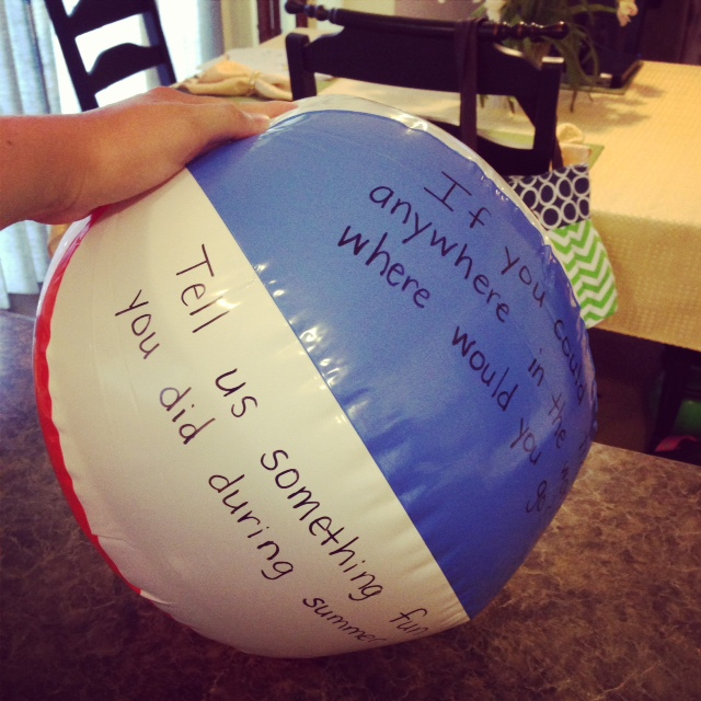 Monday Made It {Beach Ball Activity & Math About Me}